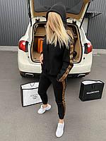 🔰 Женский черный зимний спортивный костюм Fendi (реплика)