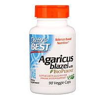 "Агарик бразильский Doctor's Best ""Agaricus Blazei With Bioperine"" с биоперином (90 капсул)"