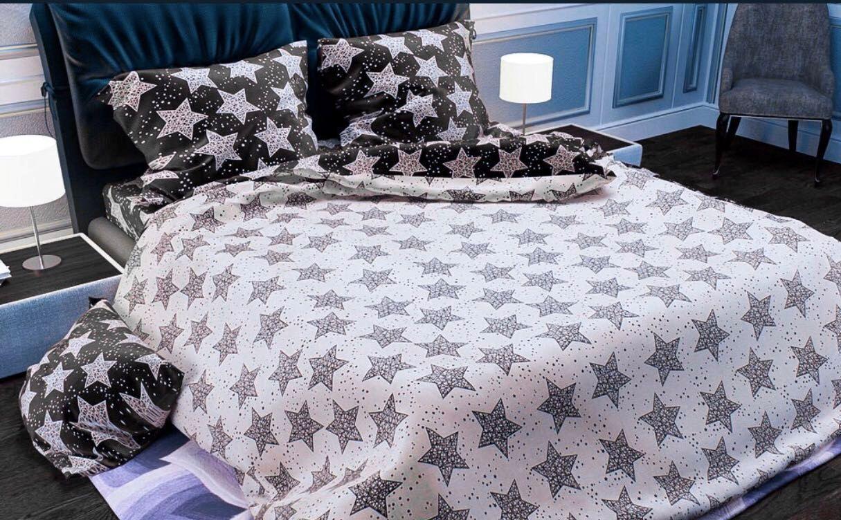 Евро размер постельное белье «Звёзды»