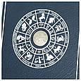 "Ежедневник А5 формата в кожаном переплете со знаком зодиака ""Лев"", фото 3"