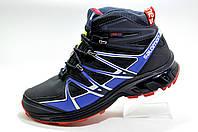 Зимние кроссовки в стиле Salomon, Dark Blue