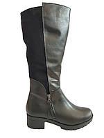 Зимние кожаные сапоги на удобном каблуке Romax 6178