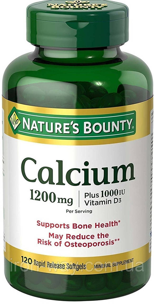 Nature's Bounty Calcium 1200mg plus vitamin D3 120 softgel