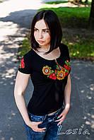 Жіноча футболка з вишивкою Соняшник