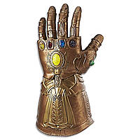 Перчатка Таноса резина ABC T-0160 СВЕТ ЗВУК Мстители: Война Бесконечности