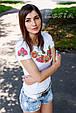 Жіноча футболка з вишивкою Соняшник, фото 2