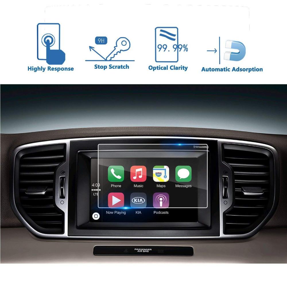 Защитное стекло для экрана мультимедиа (монитор,панель приборов) Kia Sportage QL