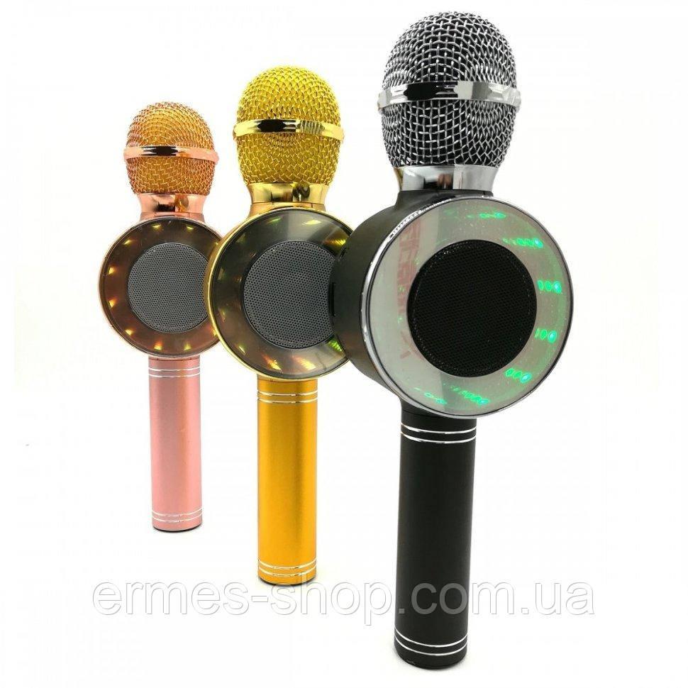 Микрофон-караоке WS-668 со встроенной колонкой