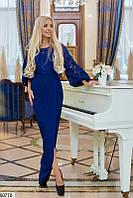 Шикарное вечернее гипюровое длинное платье с юбкой на запах скл.1 арт. 60770
