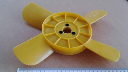 Крыльчатка вентилятора 4-лопастная (желтая) ВАЗ