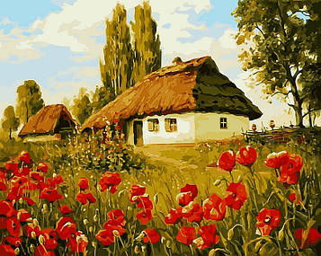 Картина по номерам 40×50 см. Babylon Маков цвет Художник Геннадий Колесной (VP 496)