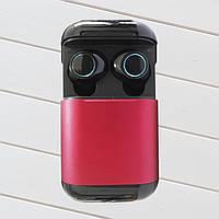 Наушники S7 Tws Bluetooth 5.0 беспроводные с зарядным чехлом-кейсом Красный