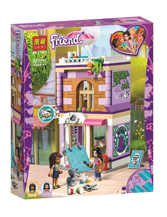 """Конструктор Bela(Lari) 11200 Френдс """"Художественная студия Эммы"""" 241 детали. Аналог Lego Friends 41365"""