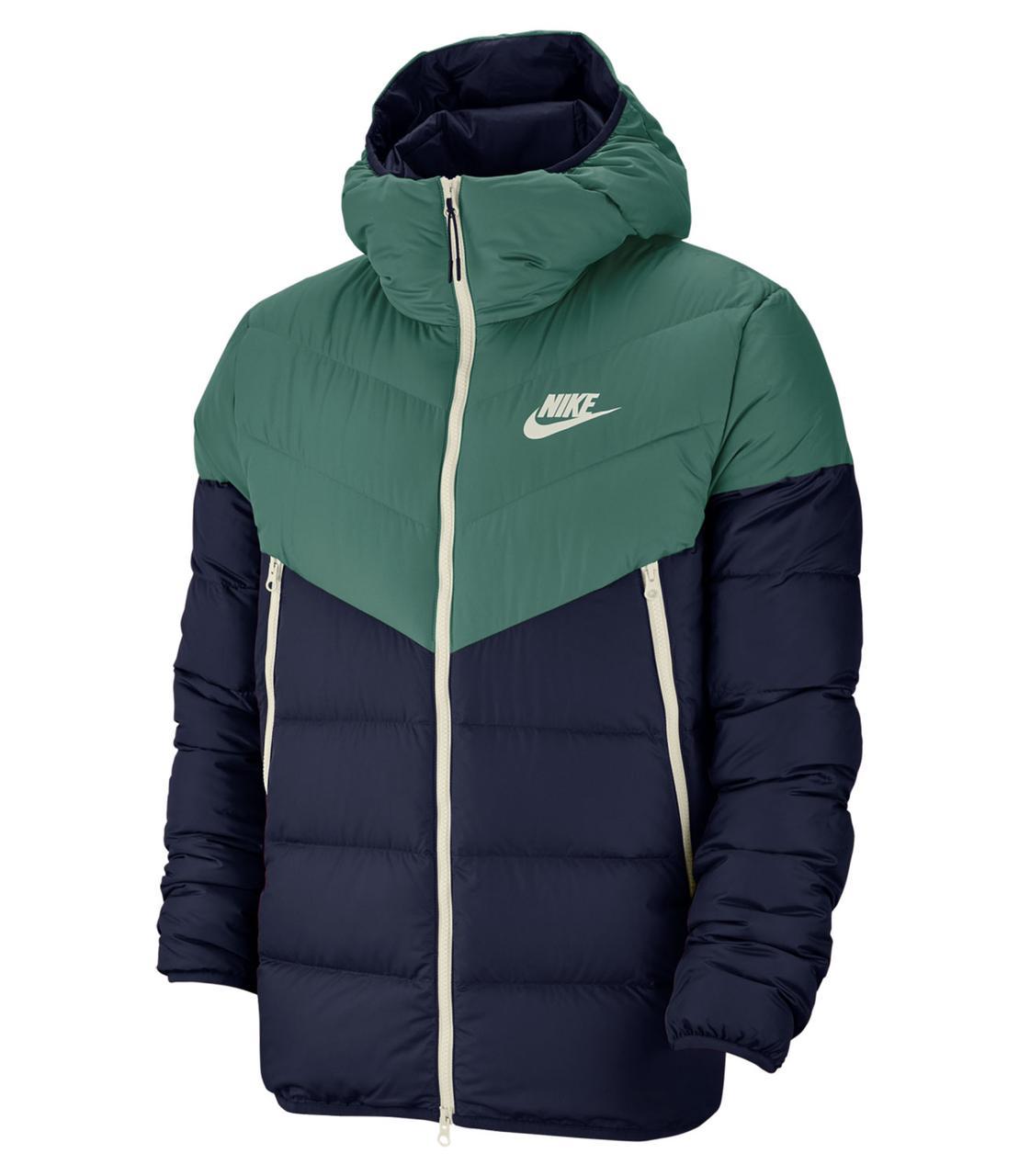 Куртка зимняя мужская Nike Sportswear Down Fill Windrunner Jacket Зеленая 928833-362