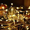 Новогодняя гирлянда -нить 400 Led 18 м (прозрачный провод, желтый)