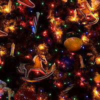 """Новогодняя гирлянда -нить """"Конус"""" 200 Led 12 м (черный провод, мульти), фото 1"""