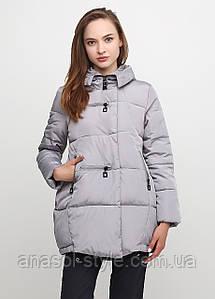Куртка пуховик  зимняя женская серая
