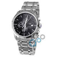 Механические мужские наручные часы Tissot T-Classic Couturier Chronograph Steel Silver-Black копия