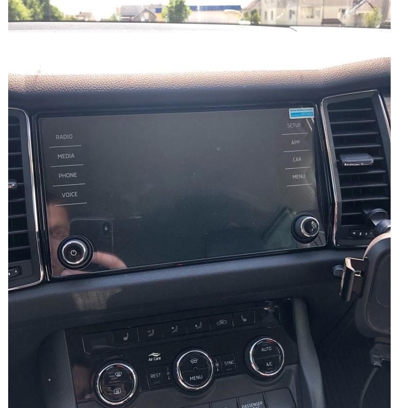 Защитное стекло для экрана мультимедиа (монитор,панель приборов) Seat Tarraco