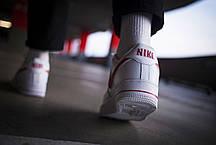 Мужские кроссовки Nike Air Force 1 Low Reflective White Red ( Реплика ), фото 2