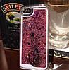 Чехол для iPhone 5 5S жидкий с блестками