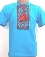 Кофточка вышиванка с коротким рукавом для мальчика на рост 92-146 см, фото 1