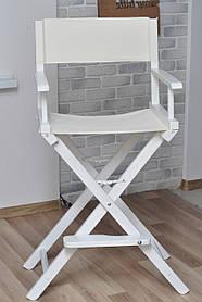Стул Визажиста каркас Белый, обивка Белая (ArtCenter-TM)