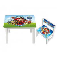 Детский стол деревянный со стульчиком Разные расцветки