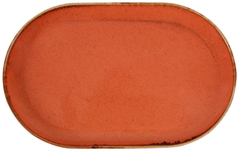 Блюдо овальное - 32 см, Оранжевое (Porland) Seasons Orange