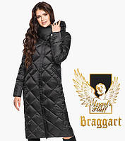 Воздуховик Braggart Angel's Fluff 31031   Женская длинная куртка черная, фото 1