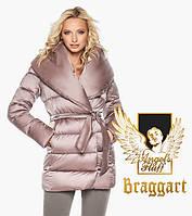 Воздуховик Braggart Angel's Fluff 31064 | Теплая женская куртка пудра, фото 1