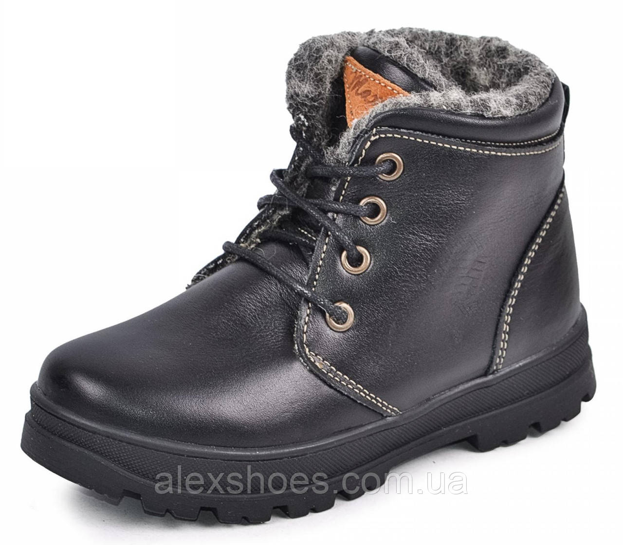 Ботинки подростковые из натуральной кожи от производителя модель МАК124