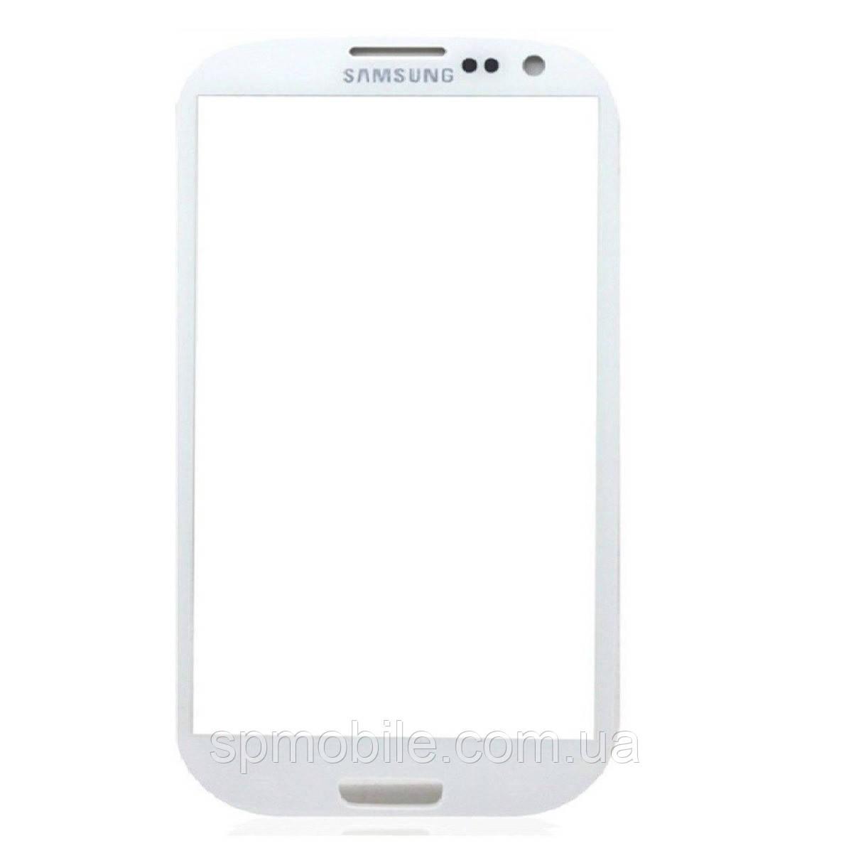 Скло дисплея Samsung G925 Galaxy S6 Edge White