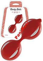 Вагинальные шарики Candy Balls Mou медицинский силикон увеличивают оргазм Красные