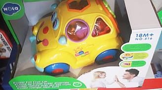 Развивающая игрушка машинка сортер