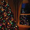 """Новогодняя гирлянда -нить """"Кристалл"""" 400 Led 15 м (черный провод, мульти)"""