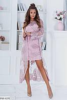 Костюм платье+кардиган  вышивка на сетке, фото 1