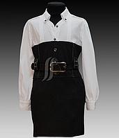 Очень красивое школьное платье комбинированное,обманка от Modalora