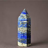 """Кристалл многогранник """"карандаш"""" сувенир натуральный камень Лазурит, высота 57мм (+-), диаметр 18мм(+-)"""