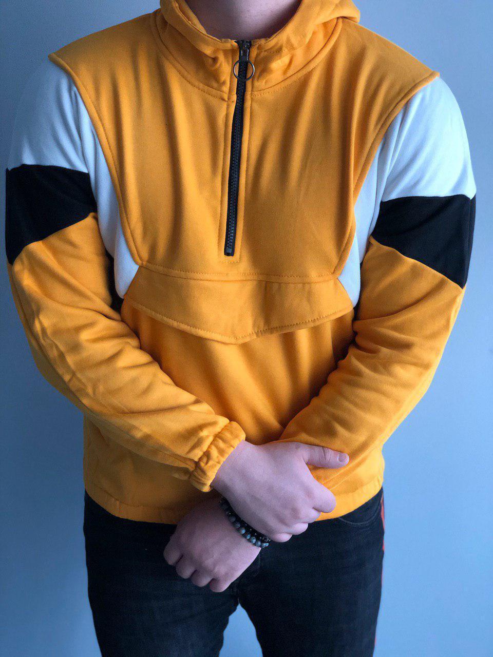 Мужская кофта оверсайз желтая MK288