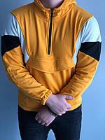 Мужская кофта оверсайз желтая MK288, фото 1