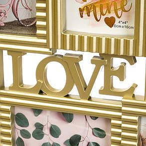 Фото рамка на 6 фото Love 50x34x2,5см (2004-005), фото 2