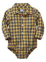 Боди-рубашка для мальчика  6-12 месяцев