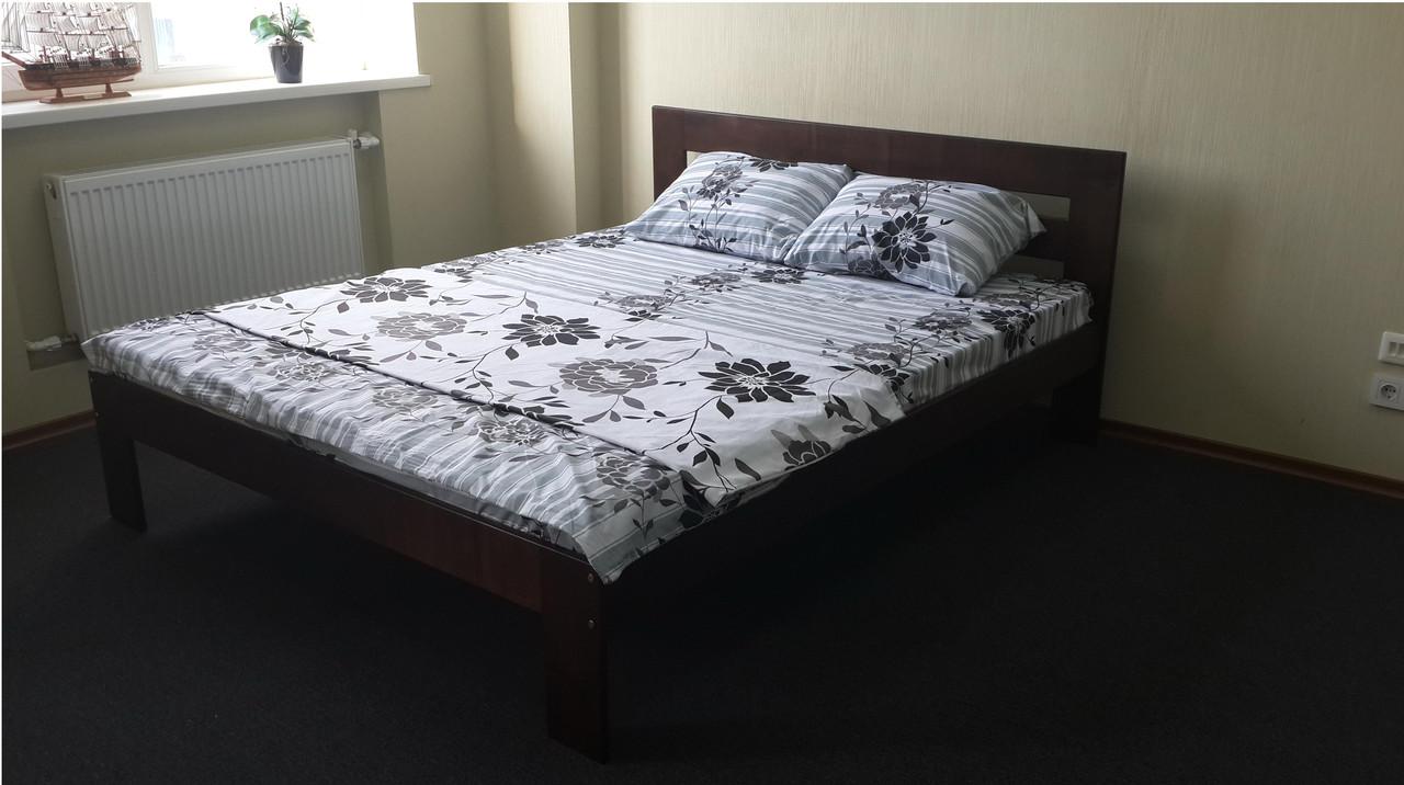 """Двуспальная кровать """"Талия"""" из дерева (массив бука)"""