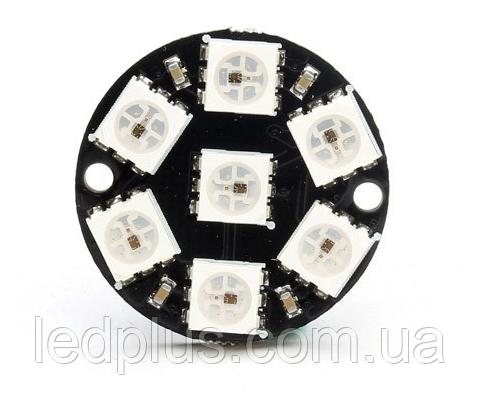 Модуль круглый со светодиодами RGB WS2812 7шт