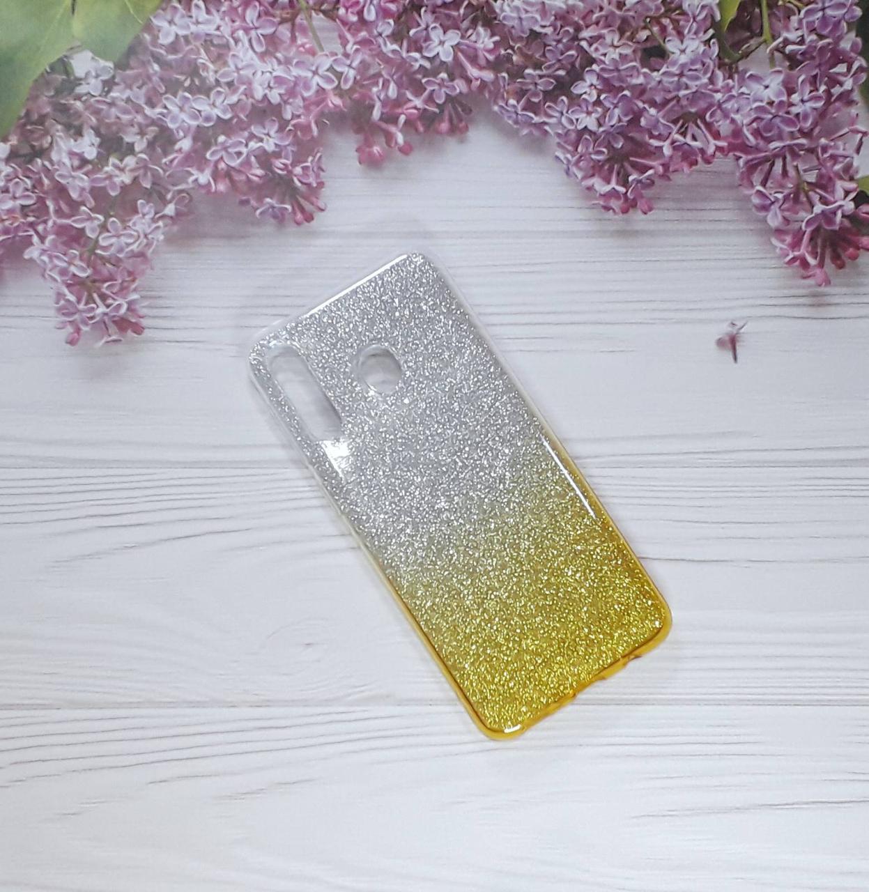 Чехол накладка Glitter Ombre на Samsung M30 (2019), Gold