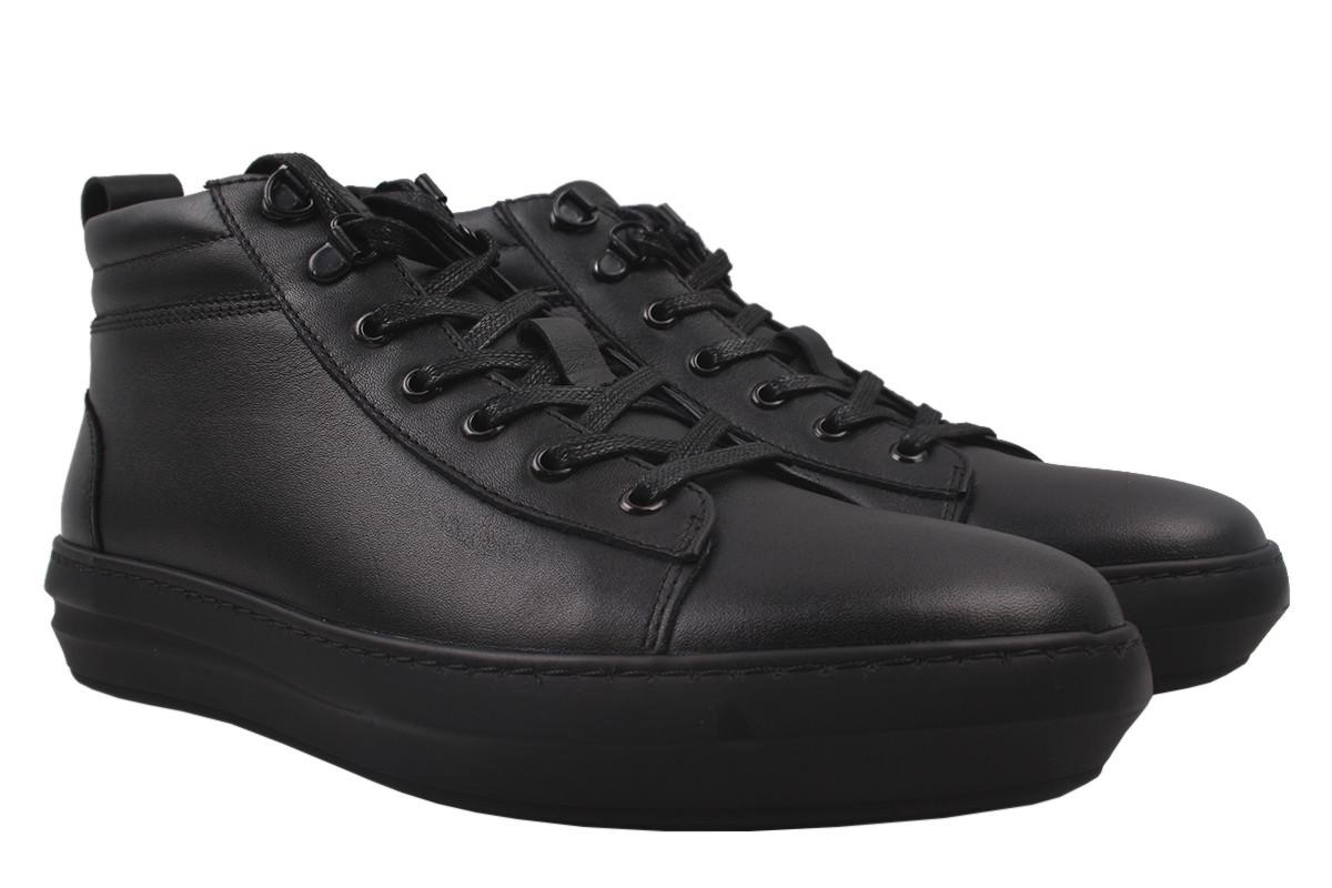 Ботинки мужские Safari зимние натуральная кожа, цвет черный, размер 40-45