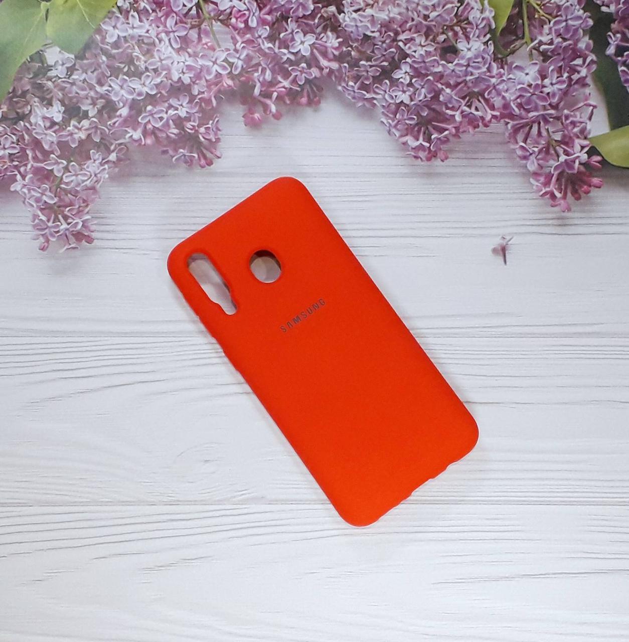 Чохол накладка Soft Touch на Samsung M30, Coral Red