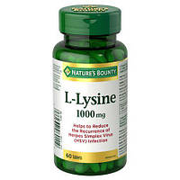 Nature's Bounty L-Lysine 1000mg 60 tab