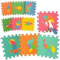 Детский игровой развивающий коврик-пазл (мозаика головоломка) Птицы(M-0387)